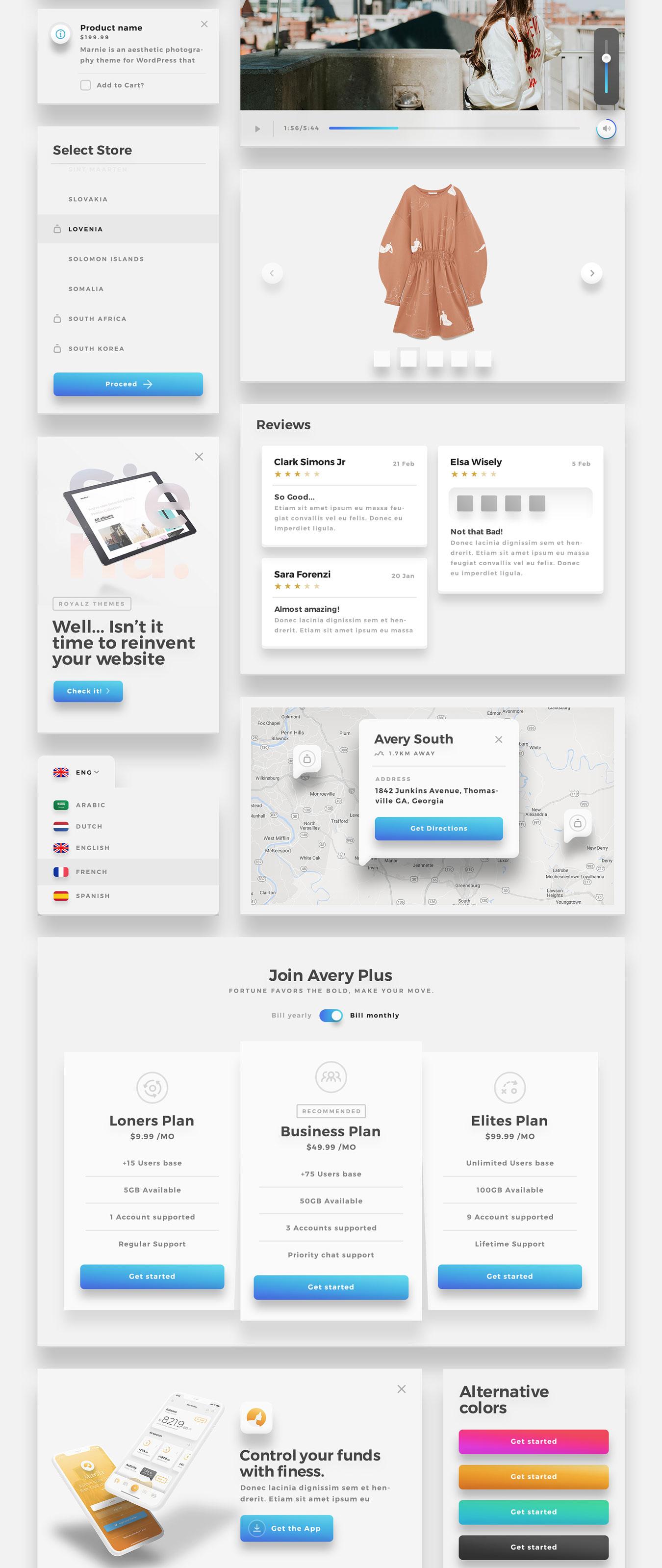 精美的服装鞋子电子商务Web UI套件 Sierra – E-commerce Web UI Kit插图(11)