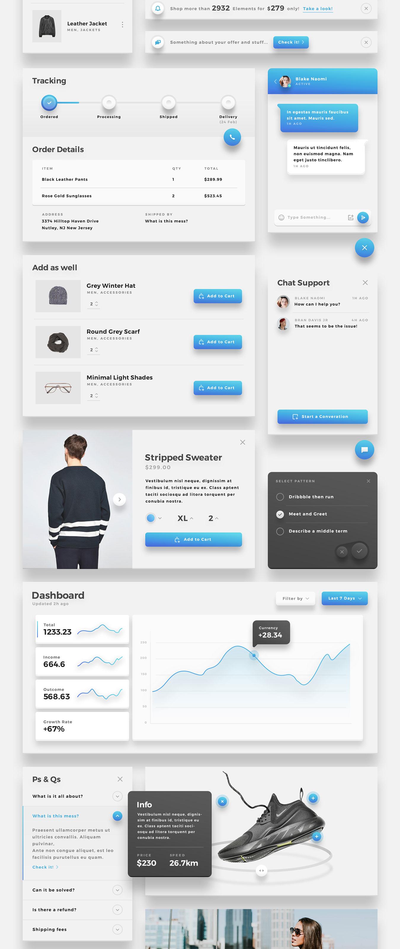 精美的服装鞋子电子商务Web UI套件 Sierra – E-commerce Web UI Kit插图(12)