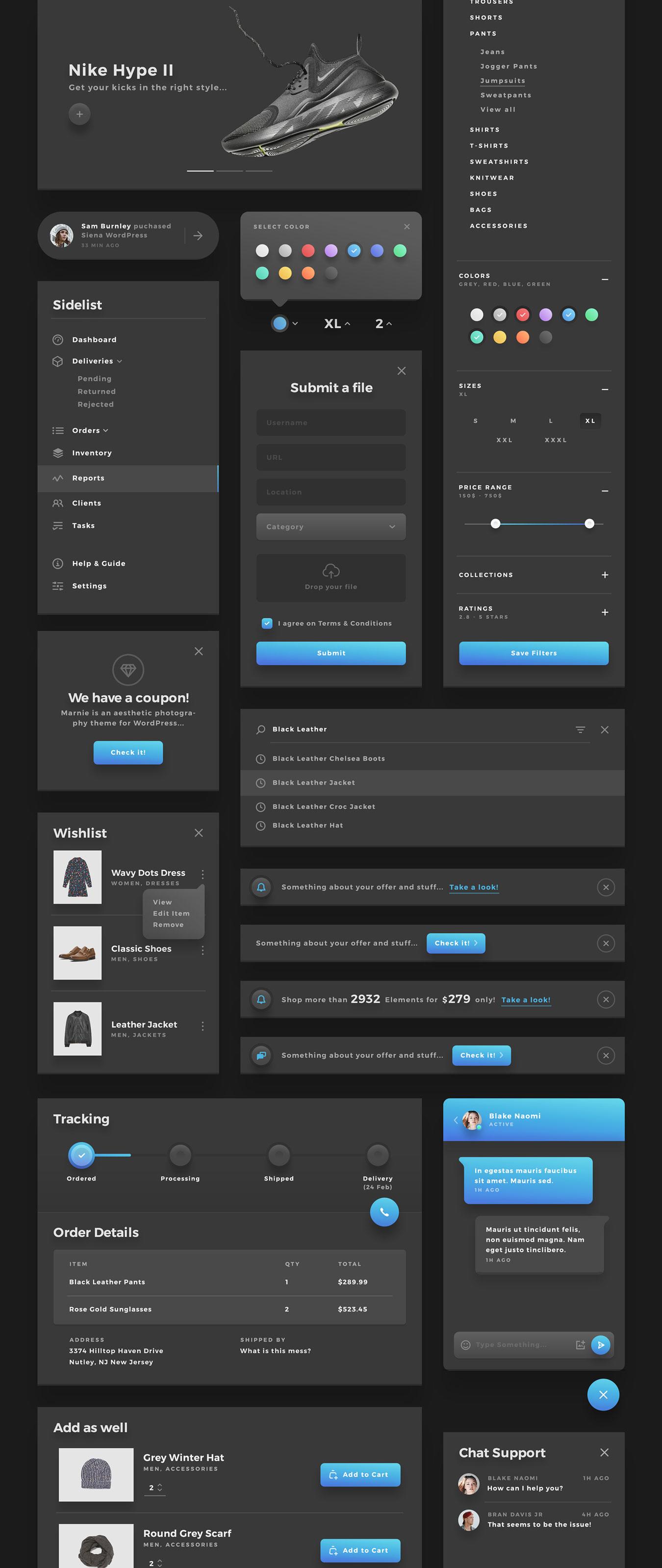 精美的服装鞋子电子商务Web UI套件 Sierra – E-commerce Web UI Kit插图(14)