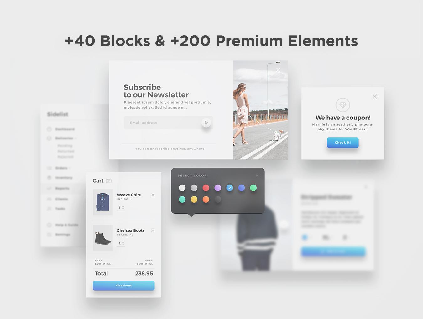 精美的服装鞋子电子商务Web UI套件 Sierra – E-commerce Web UI Kit插图(1)
