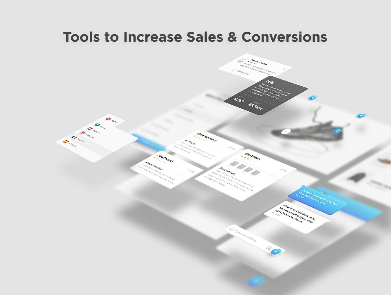 精美的服装鞋子电子商务Web UI套件 Sierra – E-commerce Web UI Kit插图(5)