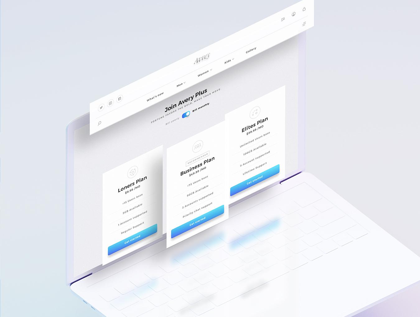 精美的服装鞋子电子商务Web UI套件 Sierra – E-commerce Web UI Kit插图(4)