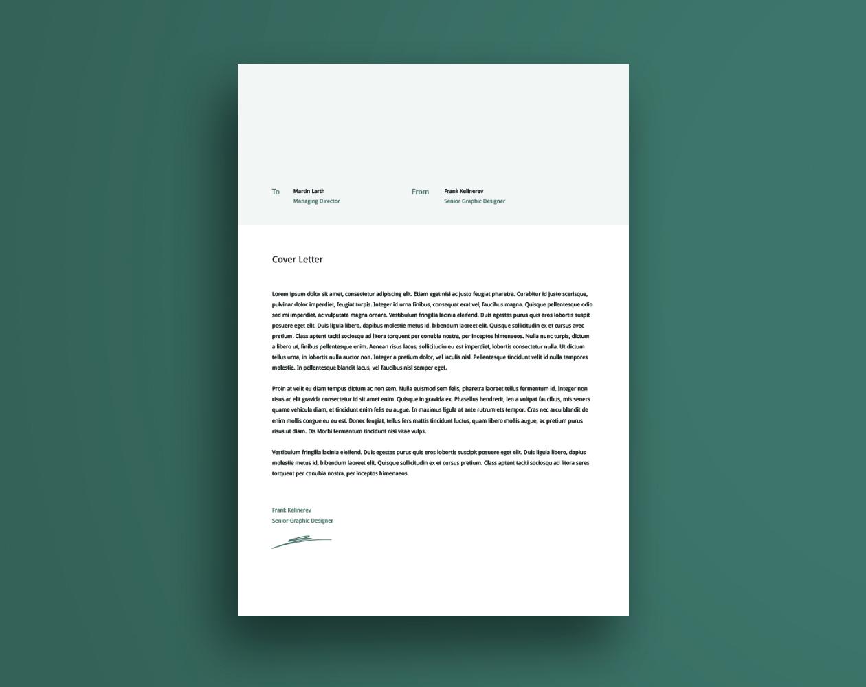 创意简洁的个人简历AI模板 Creative Resume Template插图(2)
