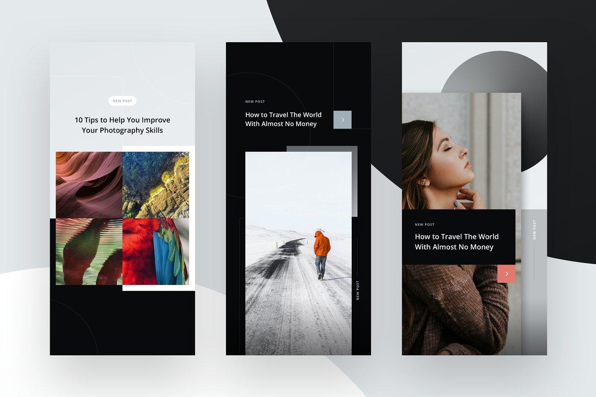 10个摄影工作室Instagram推广社交媒体设计模板套件 10 Instagram Stories Templates插图(2)