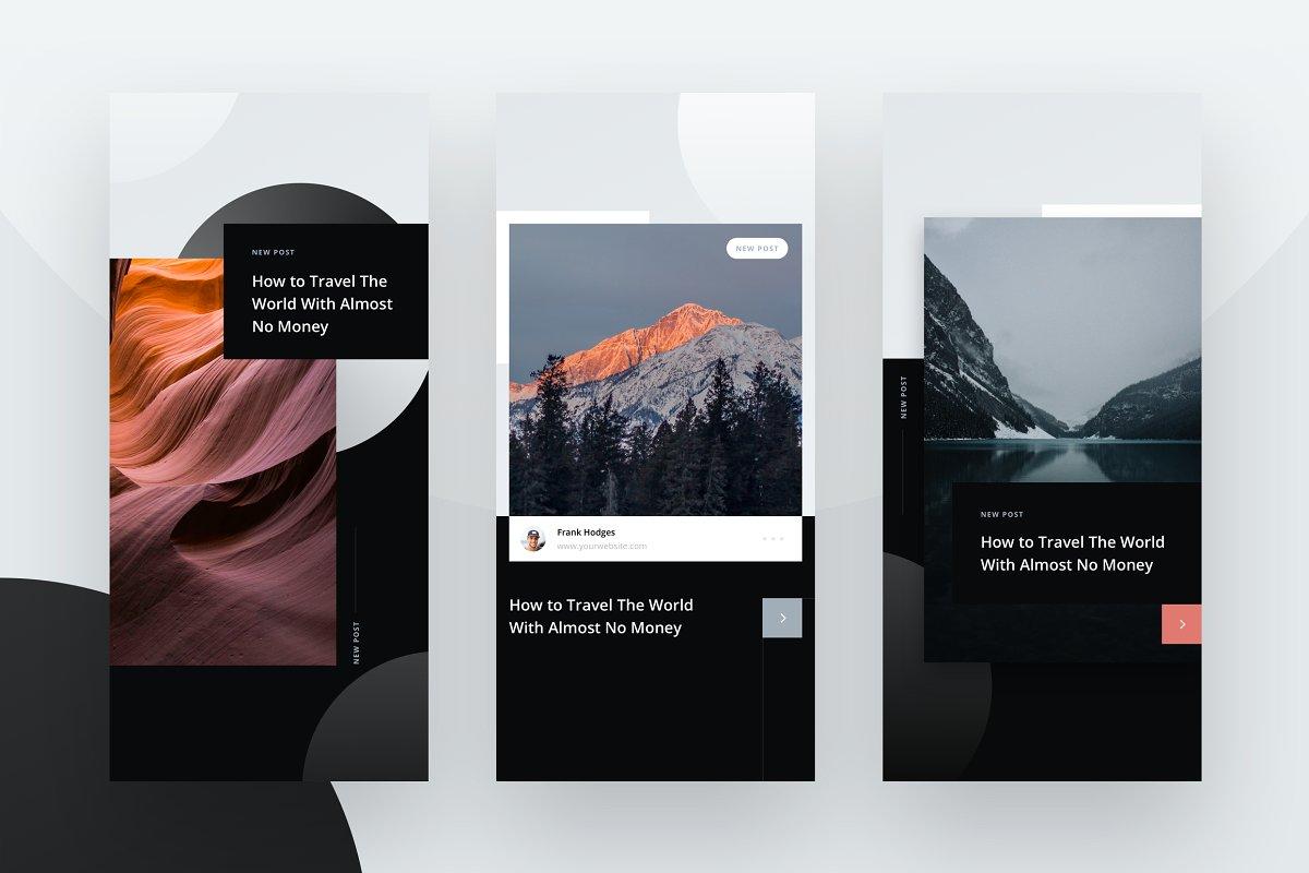 10个摄影工作室Instagram推广社交媒体设计模板套件 10 Instagram Stories Templates插图(3)