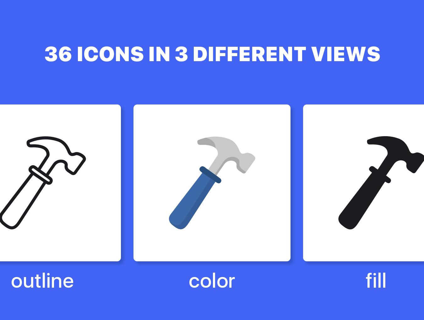 36个独特的UI工具仪器矢量图标 Instruments Icon Set插图1