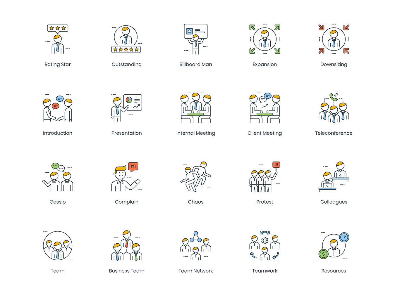 95款高质量商务人士创意矢量图标 95 Business People Icons插图(4)
