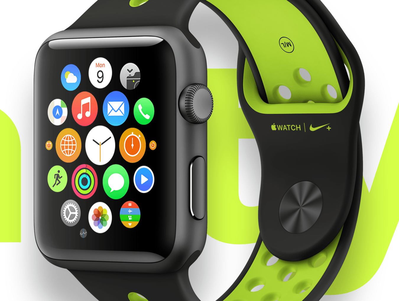 5款前视图苹果手表Apple Watch展示样机 Top 5 Apple Watch Views插图(4)
