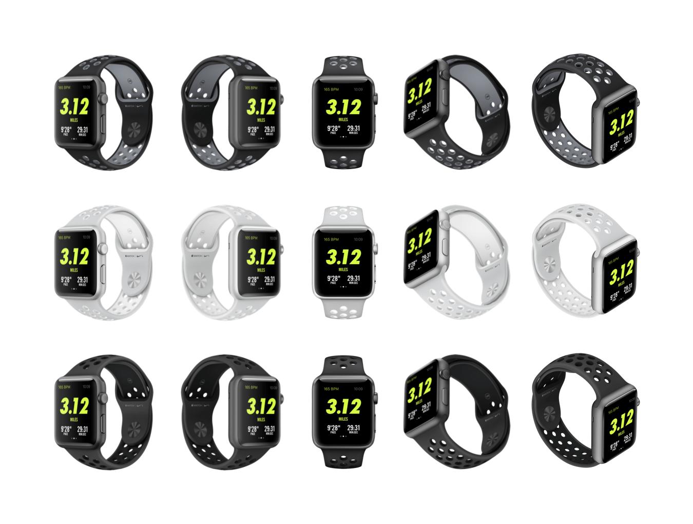 5款前视图苹果手表Apple Watch展示样机 Top 5 Apple Watch Views插图(6)