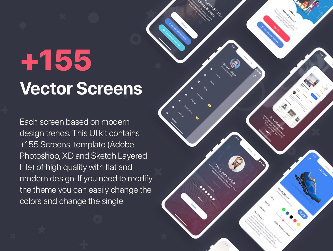 多功能旅行社交直播商城iOS APP UI工具包 MultiPurpose iOS UI Kit插图(4)