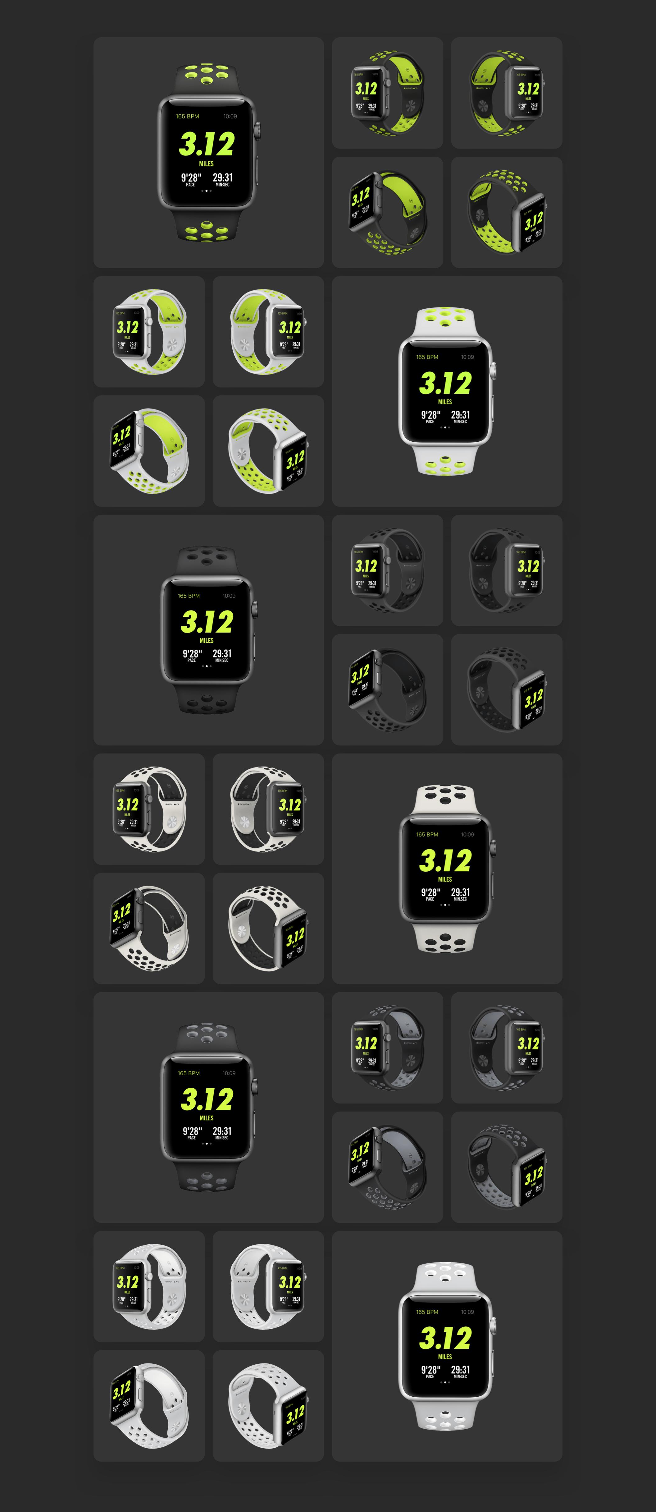 5款前视图苹果手表Apple Watch展示样机 Top 5 Apple Watch Views插图(8)