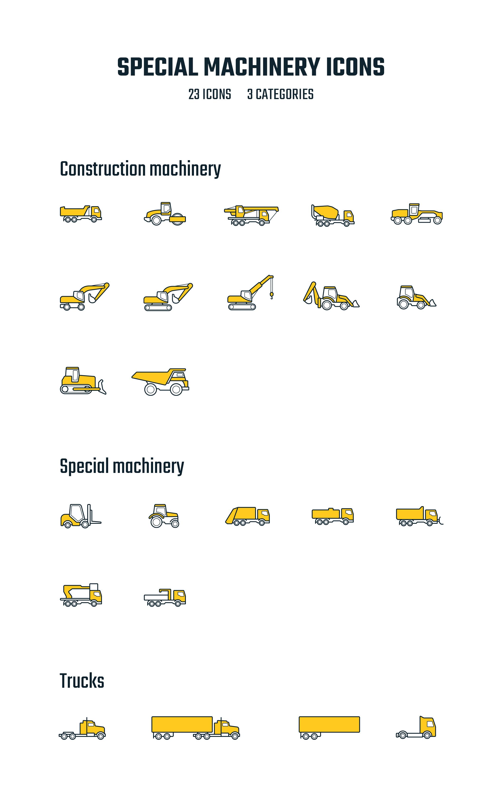 专用特种机械矢量图标集 Special Machinery Icons插图4