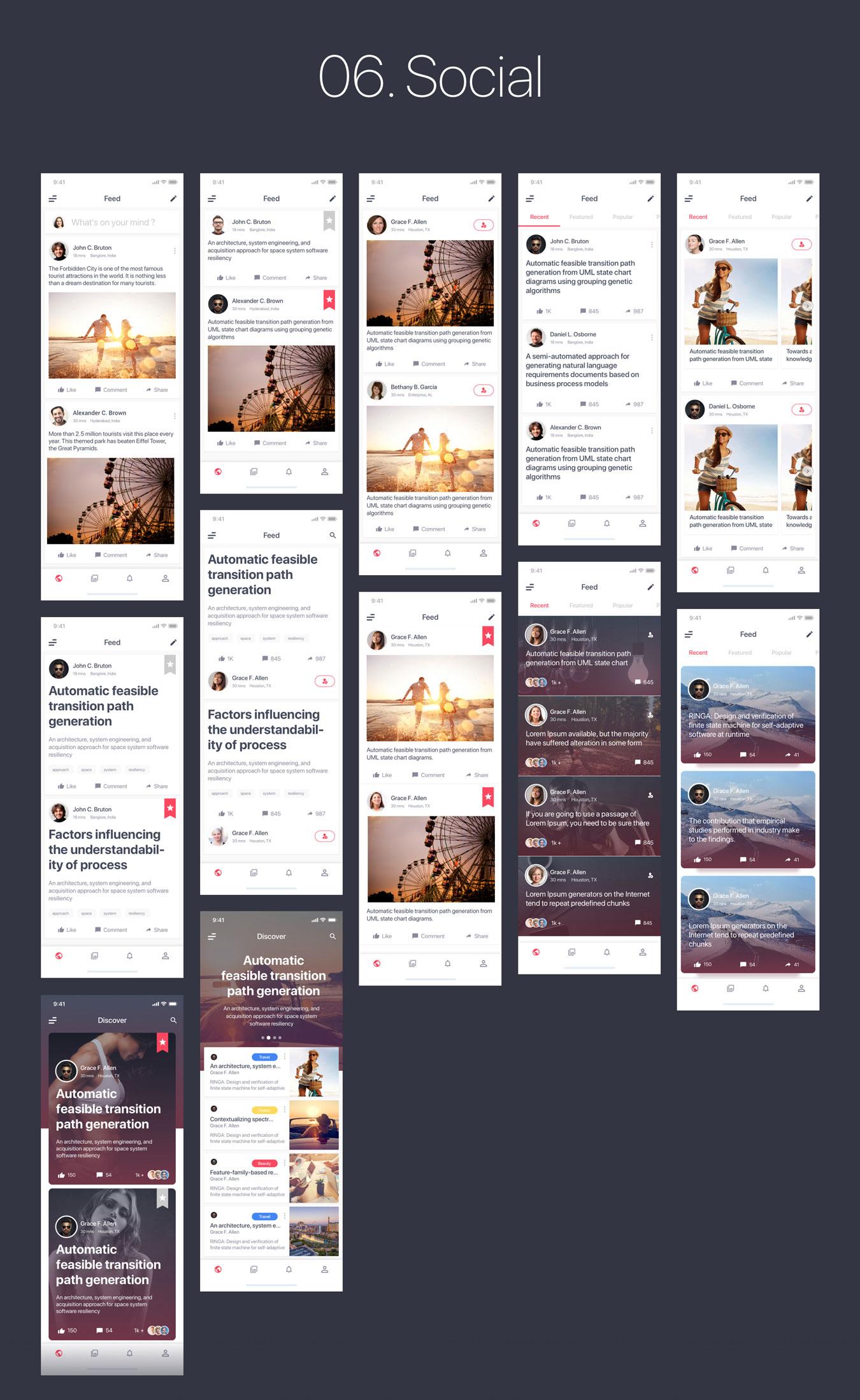 多功能旅行社交直播商城iOS APP UI工具包 MultiPurpose iOS UI Kit插图(13)