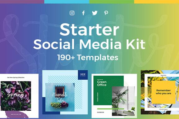 时尚服装营销海报INS风社交媒体工具包 Starter Social Media Kit