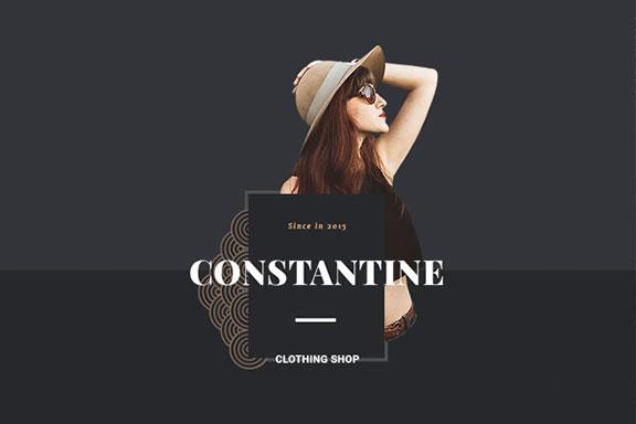 高端服装品牌电子商务网站PSD模板 Constantine