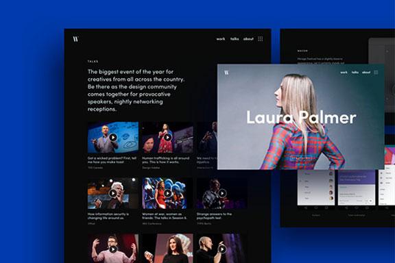 专业设计的讲座设计作品网站页面模板 Mirror Template