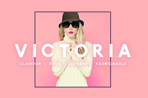 魅力时尚无衬线英文字体下载 Victoria Sans Serif