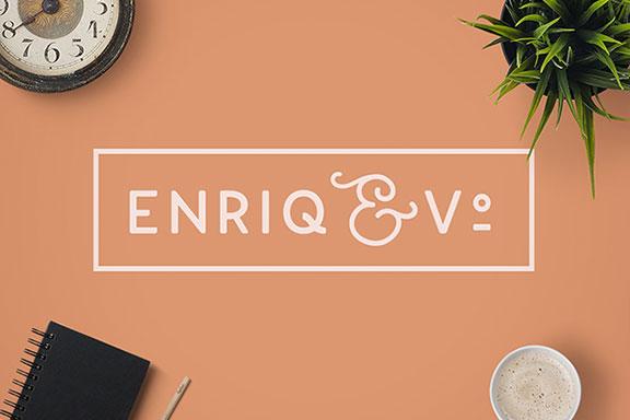 优雅圆润的圆角样式英文字体 Enriq Elegant Font