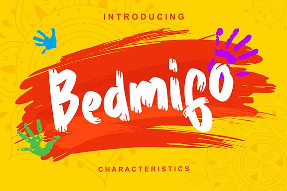 具有手写书法风格的特征脚本英文字体 Bedmifo | Characteristics Script Font
