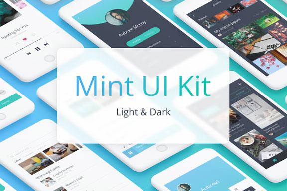 社交软件APP应用UI设计套件 Mint UI kit
