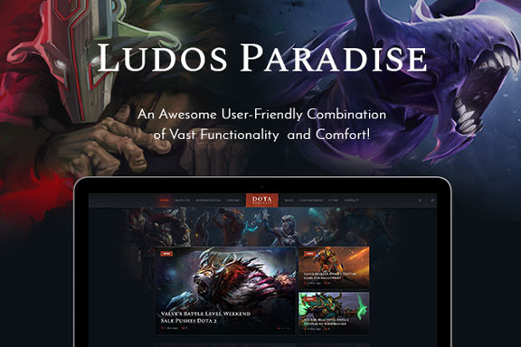 超炫酷视频游戏|博客|氏族电竞WordPress主题模板 Ludos Paradise | Video Gaming Blog & Clan Esports WordPress Theme
