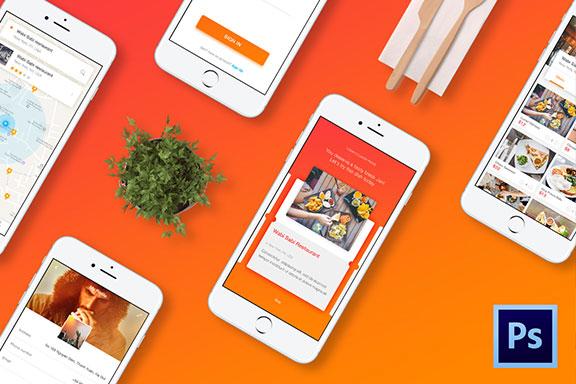 餐厅食物在线订餐应用程序外卖APP UI设计素材套件 Cook – Restaurant Application Ui Kit