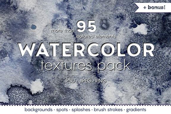 高分辨率手绘水彩水墨背景纹理合集 WATERCOLOR textures pack!
