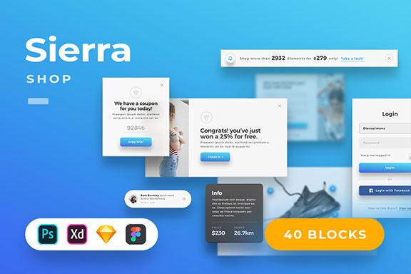 精美的服装鞋子电子商务Web UI套件 Sierra – E-commerce Web UI Kit
