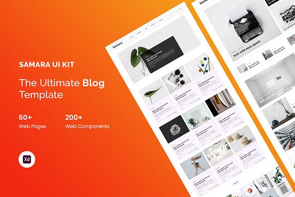 极简主义多功能个人博客WEB UI套件 Samara – Blog UI Kit