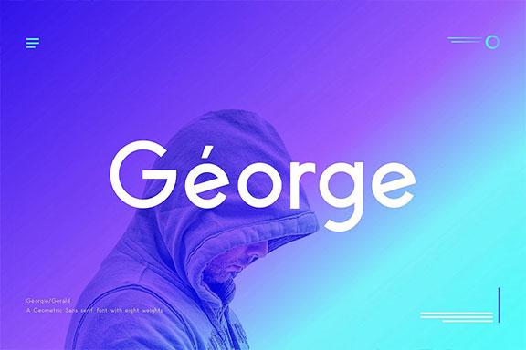 雅致的现代几何英文字体下载 George Geometric Typeface