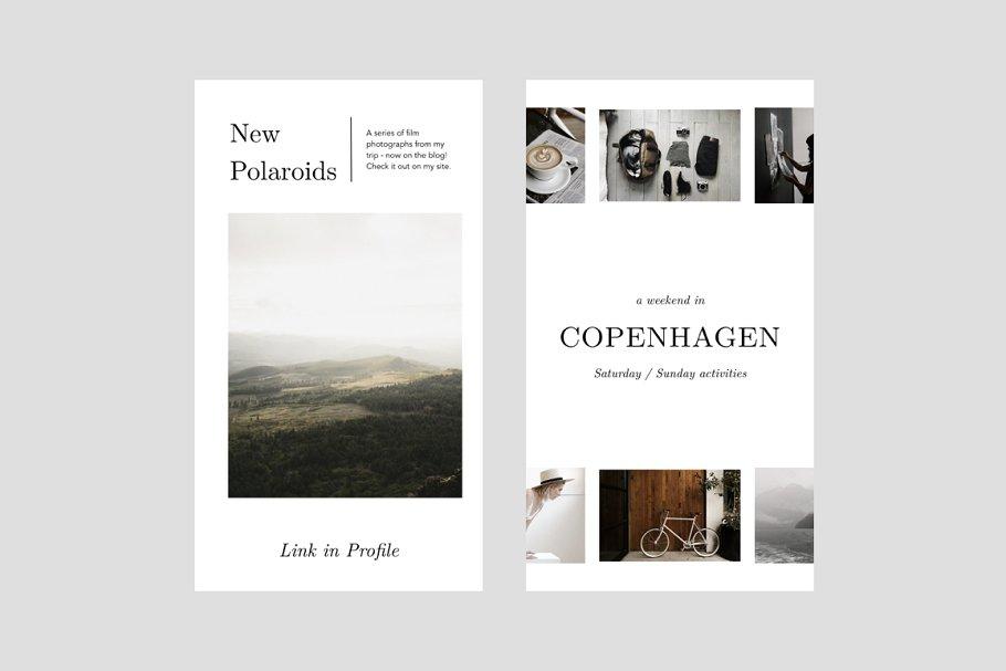 摄影师旅行摄影Instagram故事模板社交媒体推广素材包 Oswald Instagram Stories Templates插图(3)