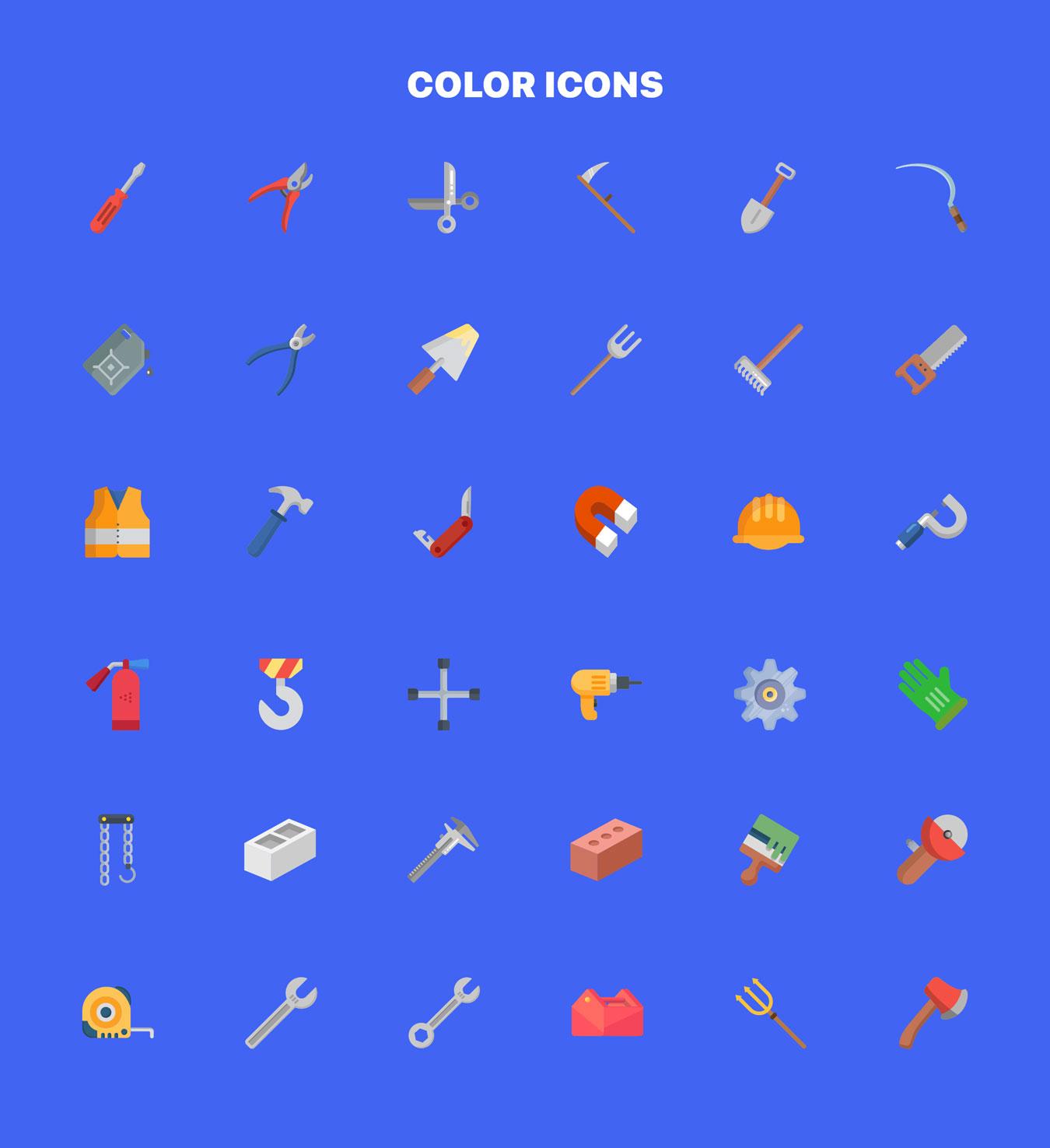 36个独特的UI工具仪器矢量图标 Instruments Icon Set插图4