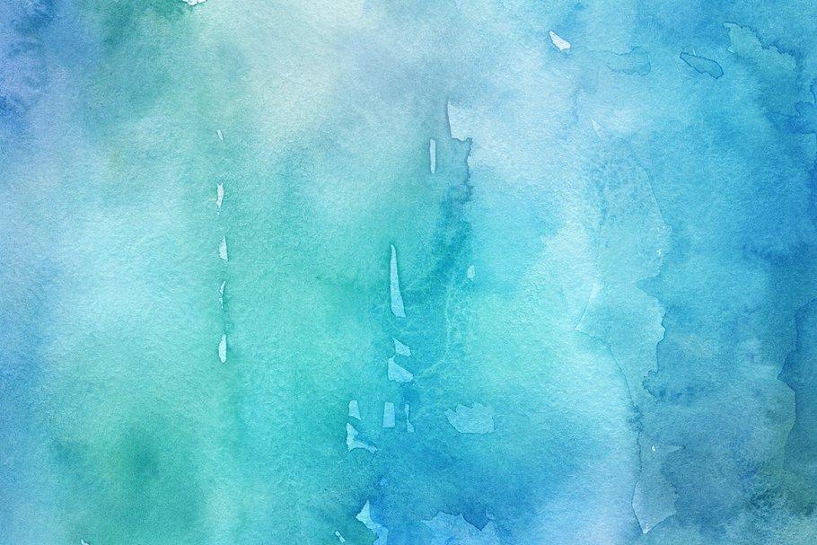30个富有创意的手工冬季水彩背景纹理 30 Winter Watercolor Backgrounds插图(5)