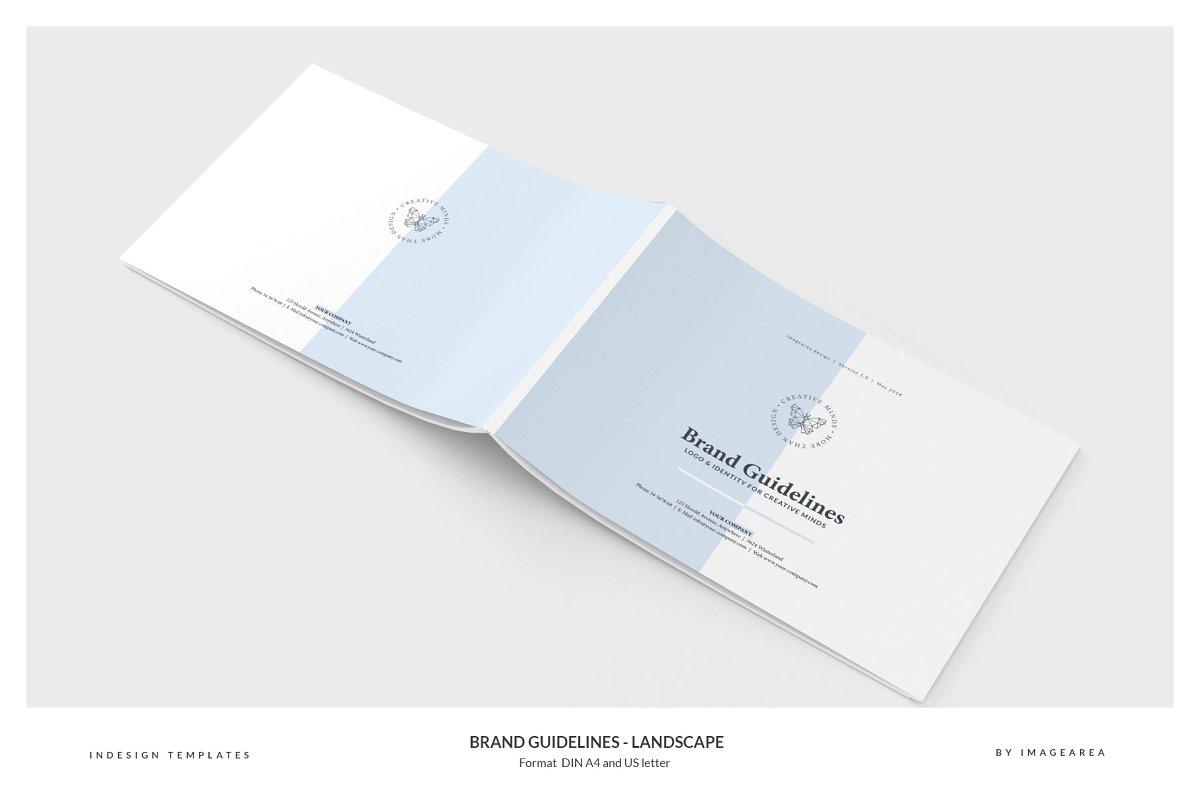 清新服装品牌VI手册标志指南画册模板 Brand Guidelines – Landscape插图(11)