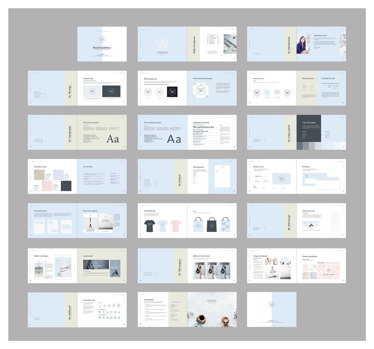 清新服装品牌VI手册标志指南画册模板 Brand Guidelines – Landscape插图(12)