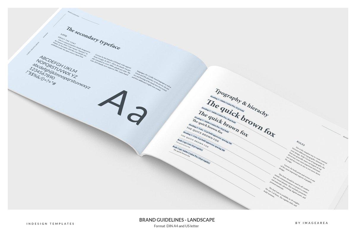 清新服装品牌VI手册标志指南画册模板 Brand Guidelines – Landscape插图(5)