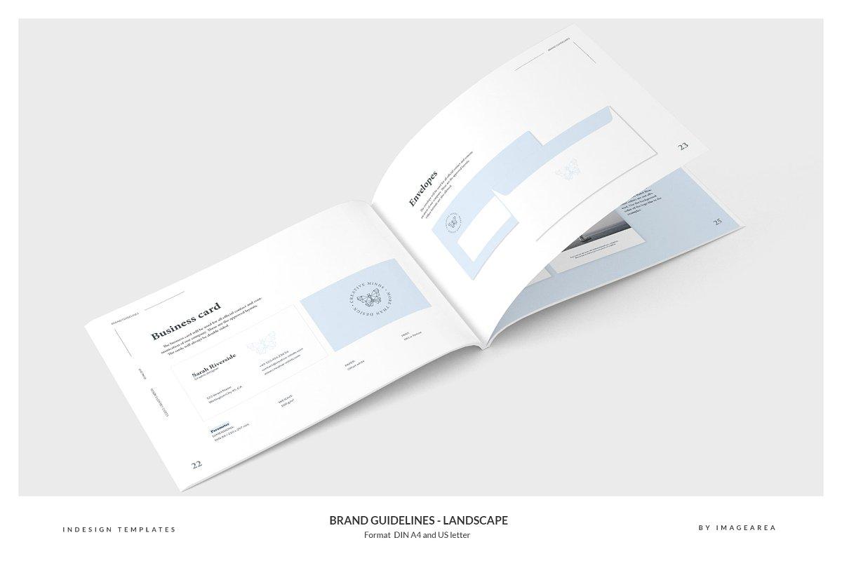 清新服装品牌VI手册标志指南画册模板 Brand Guidelines – Landscape插图(8)