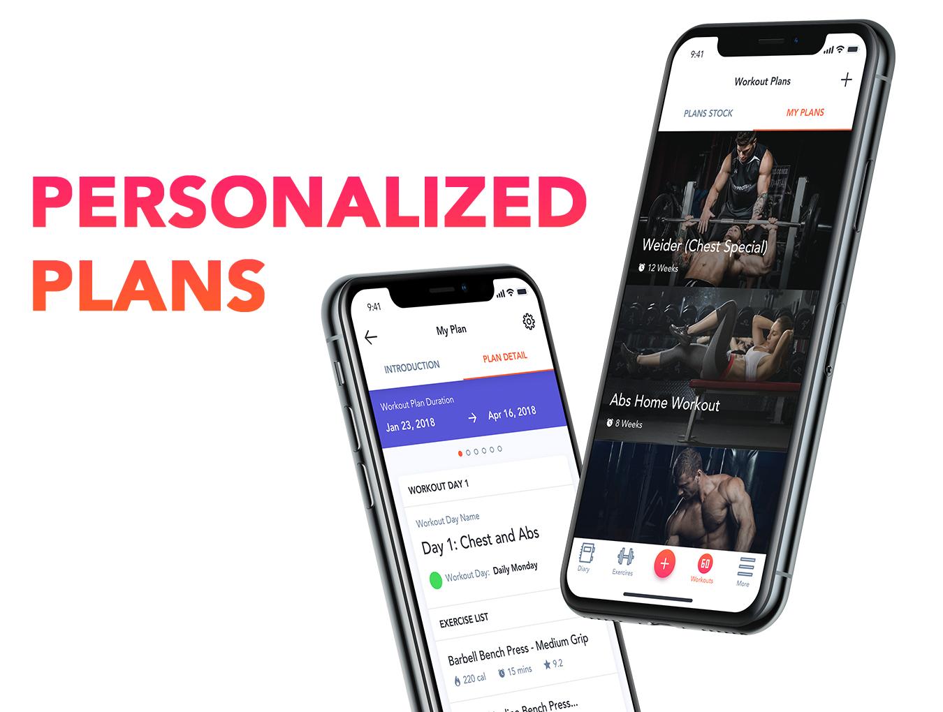 体能健康数据统计&健身培训iOS Apps UI套件 Fitness Love 2.0插图(5)