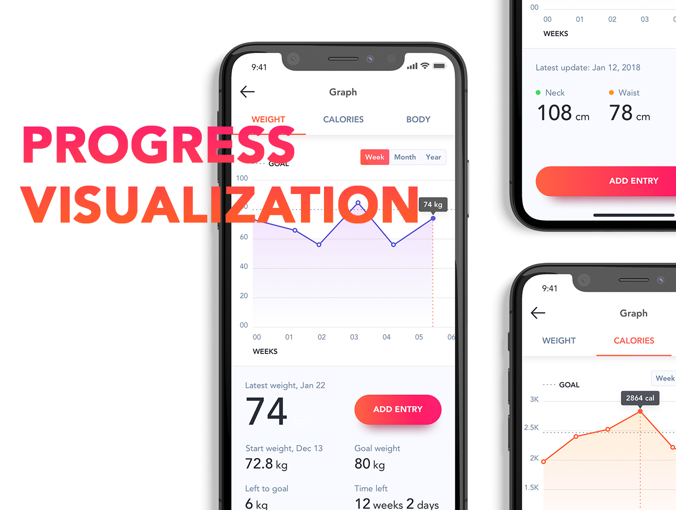 体能健康数据统计&健身培训iOS Apps UI套件 Fitness Love 2.0插图(6)