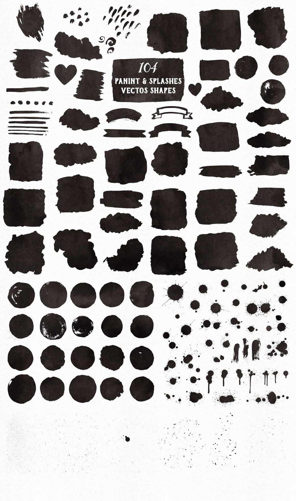 700多个木材大理石空间水彩纹理工具包 New Watercolor Texture Toolkit插图(6)