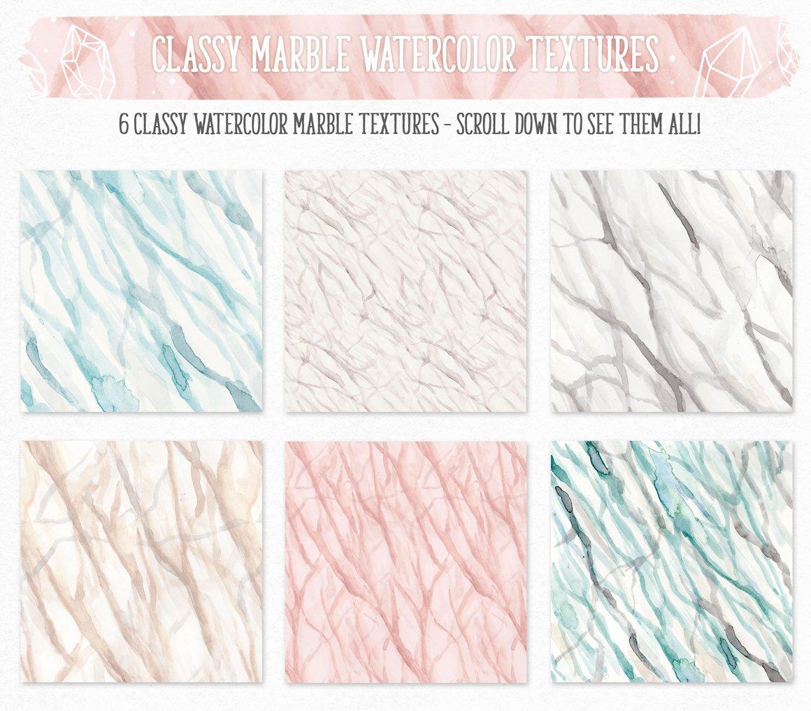 700多个木材大理石空间水彩纹理工具包 New Watercolor Texture Toolkit插图(9)
