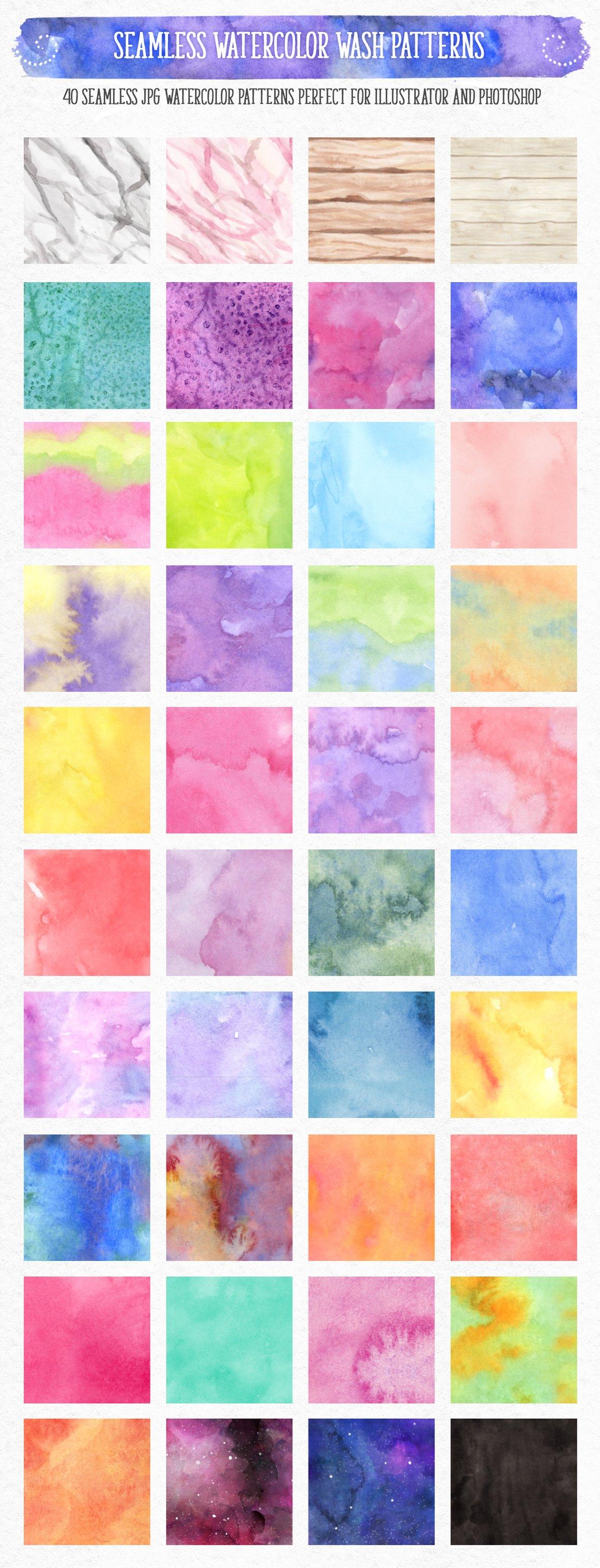 700多个木材大理石空间水彩纹理工具包 New Watercolor Texture Toolkit插图(10)