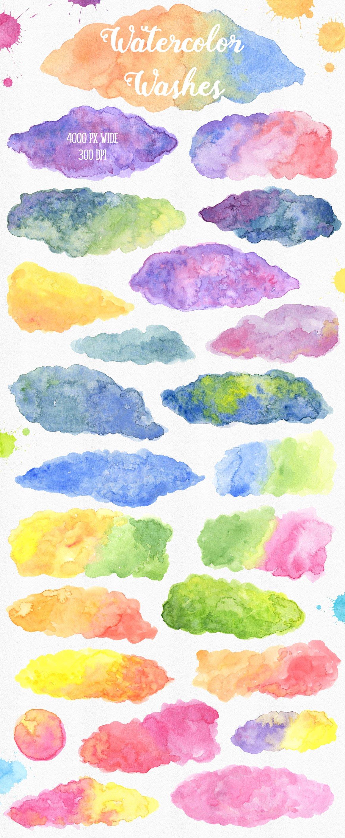 700多个木材大理石空间水彩纹理工具包 New Watercolor Texture Toolkit插图(1)