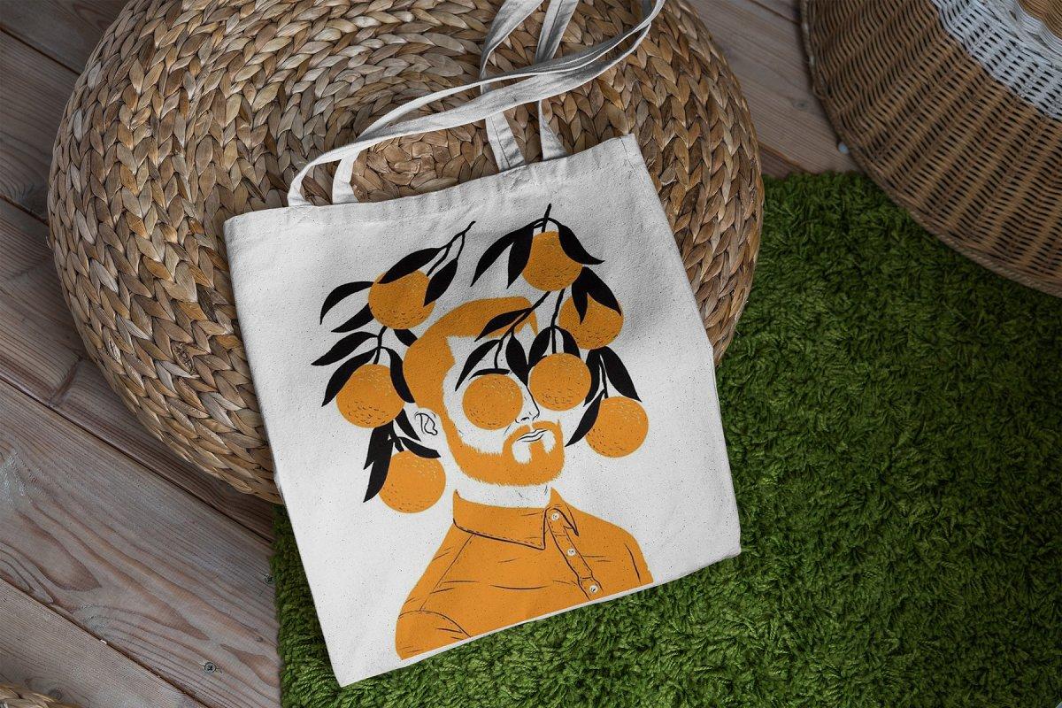 23款时尚生活方式手提帆布袋设计样机模板素材合集 Canvas Tote Bag Mockup Lifestyle插图(9)
