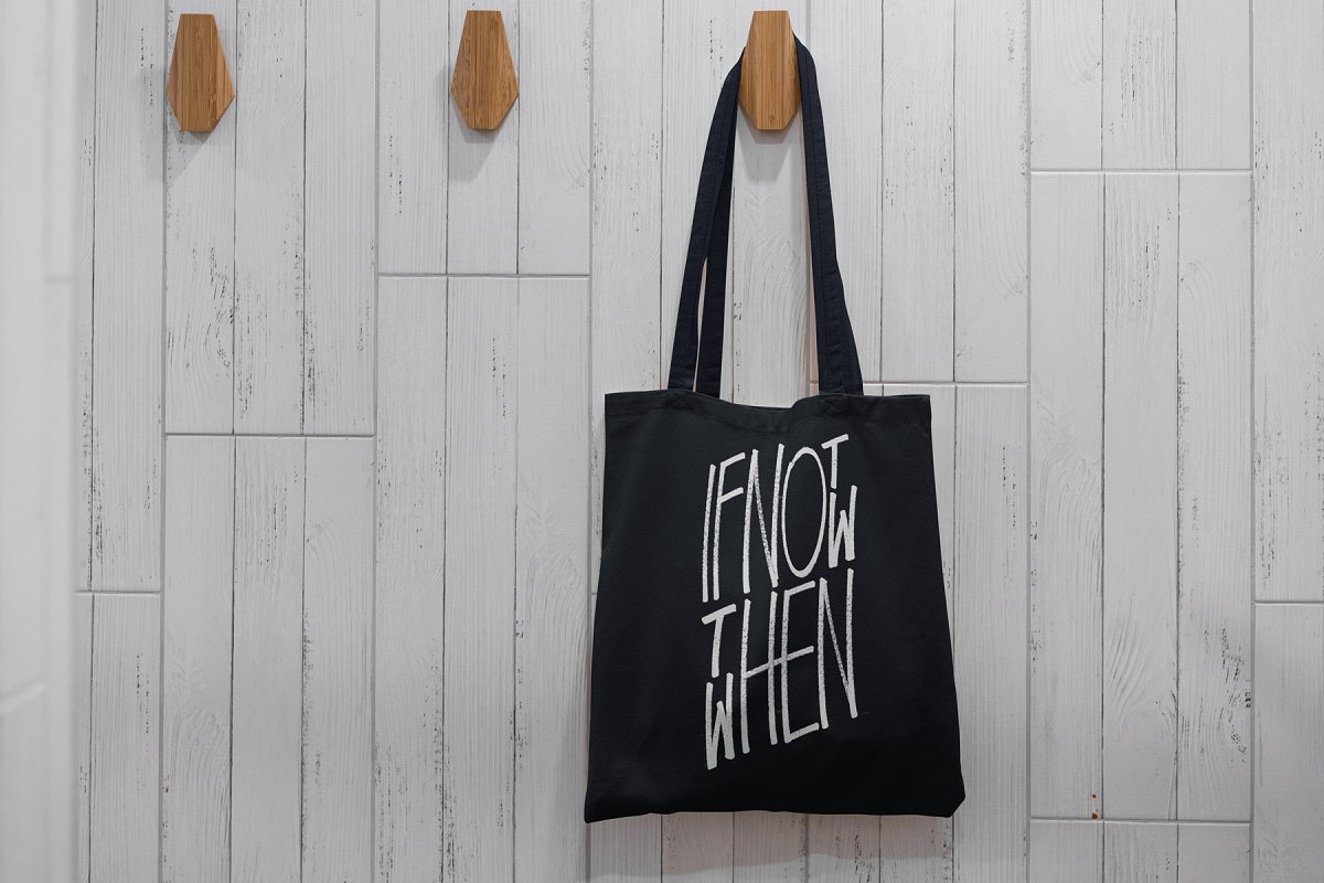 23款时尚生活方式手提帆布袋设计样机模板素材合集 Canvas Tote Bag Mockup Lifestyle插图(10)