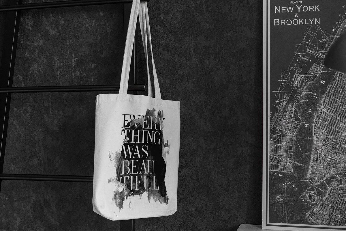 23款时尚生活方式手提帆布袋设计样机模板素材合集 Canvas Tote Bag Mockup Lifestyle插图(12)