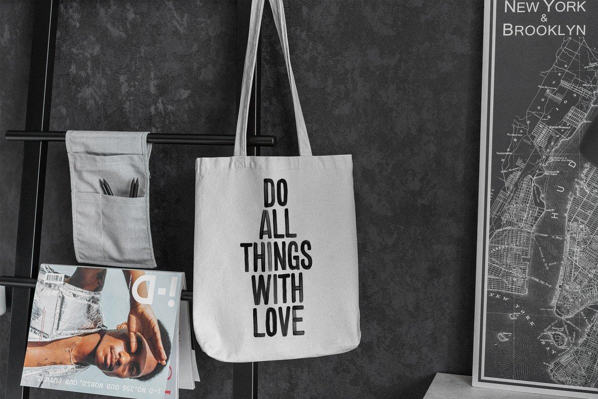 23款时尚生活方式手提帆布袋设计样机模板素材合集 Canvas Tote Bag Mockup Lifestyle插图(13)