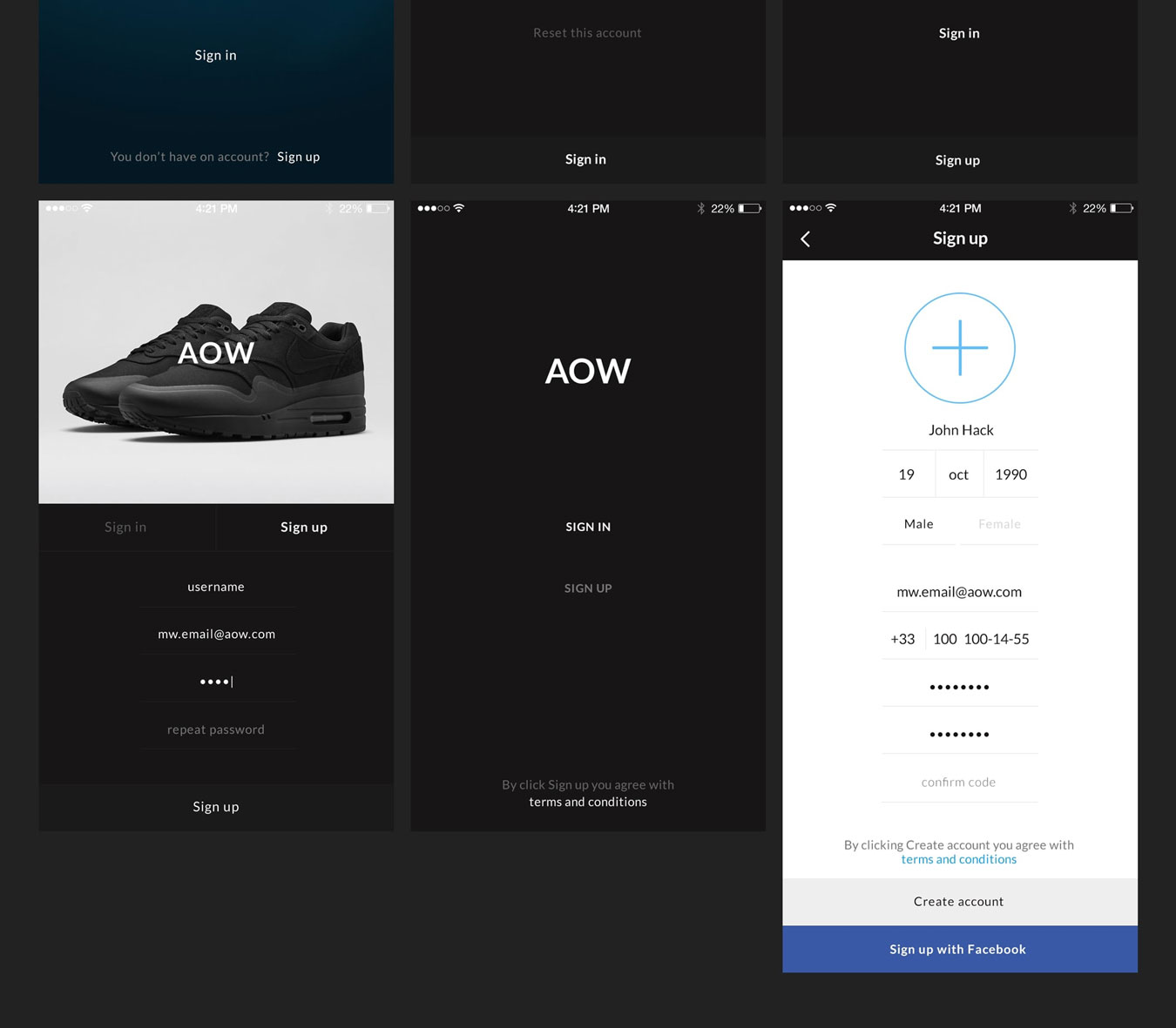 多功能音乐社交电子商城iOS APP UI设计模板套件 AOW UI Kit插图(6)