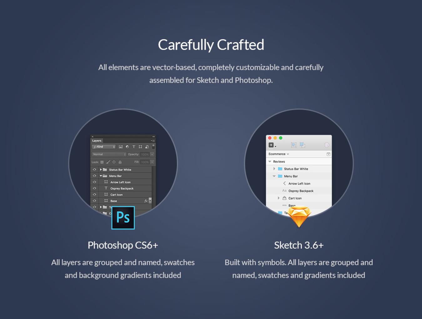 多功能在线购物摄影社交软件APP UI设计模板套件 Chameleon UI Kit插图(4)