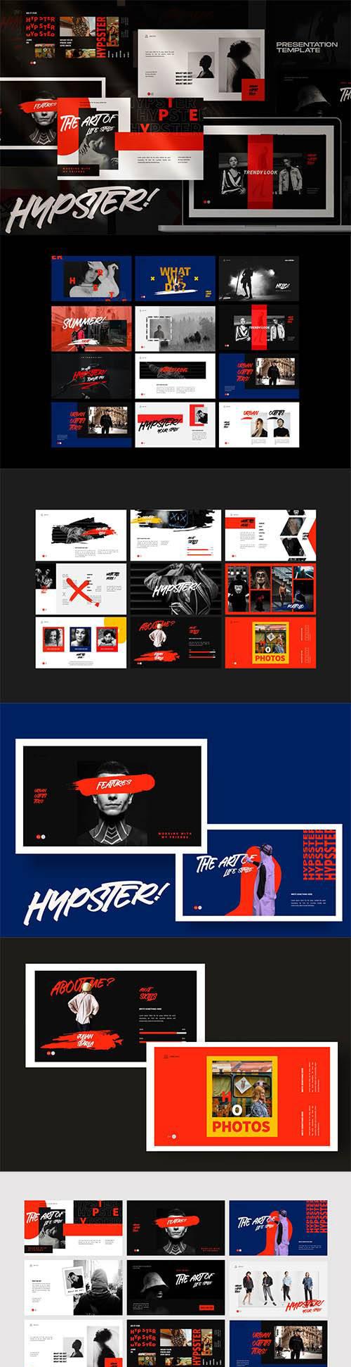 时尚多用途服装品牌摄影作品集PPT幻灯片模板素材 Hypester – urban design creative powerpoint插图(2)
